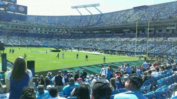 Bank of America Stadium, secção: 104, fila: 12, lugar: 1