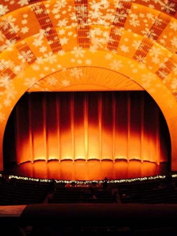 Radio City Music Hall, secção: 2nd Mezzanine 4, fila: A