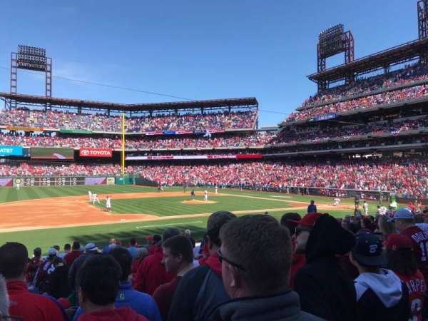 Citizens Bank Park, secção: 132, fila: 17, lugar: 11