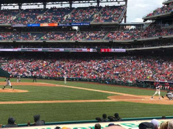 Citizens Bank Park, secção: 131, fila: 10, lugar: 3