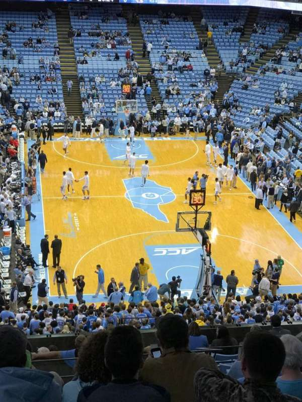Dean E. Smith Center, secção: 216, fila: M, lugar: 10