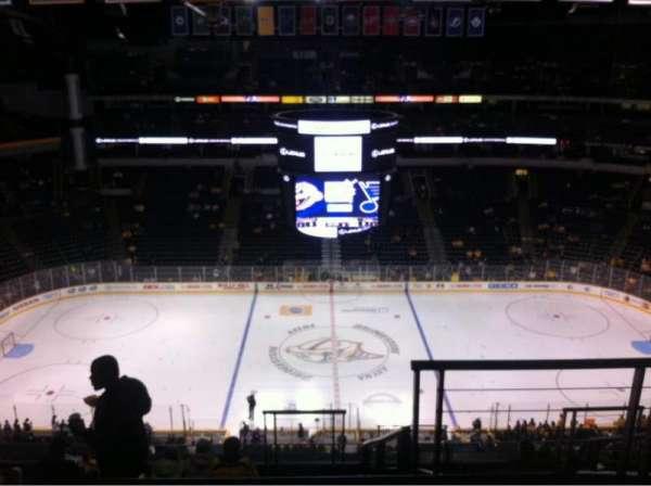 Bridgestone Arena, secção: 325, fila: K, lugar: 2