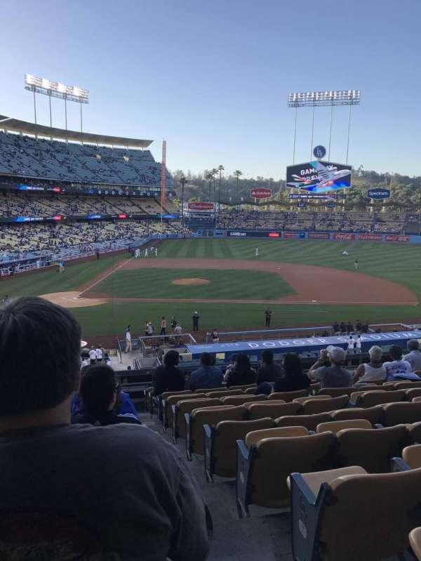 Dodger Stadium, secção: 126LG, fila: L, lugar: 7