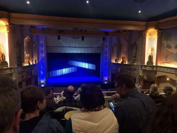 Egyptian Theatre (DeKalb), secção: Lower Balcony, fila: G, lugar: 25