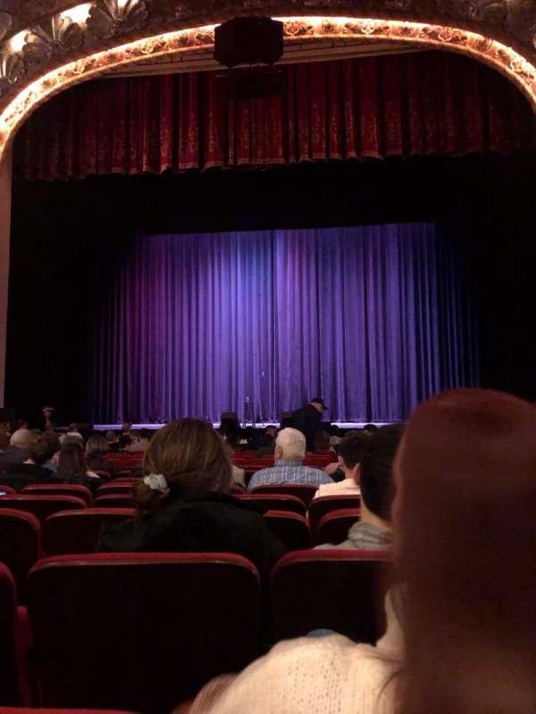 Coronado Theatre, secção: Orchestra, fila: P, lugar: 2