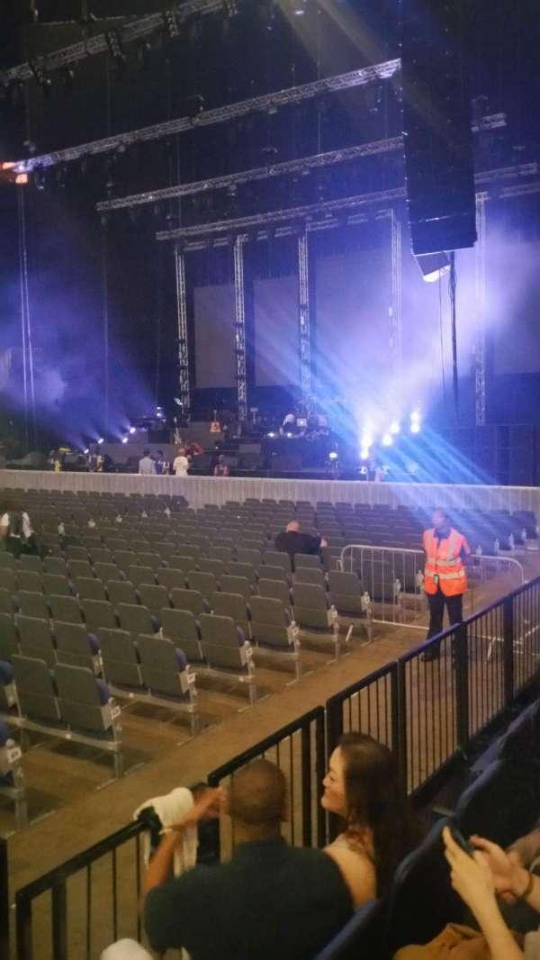 The O2 Arena, secção: 111, fila: C, lugar: 359