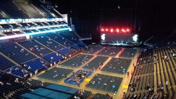 The O2 Arena, secção: 414, fila: A, lugar: 766