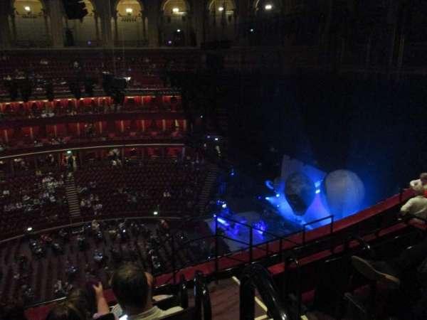 Royal Albert Hall, secção: Rausing Circle X, fila: 6, lugar: 215