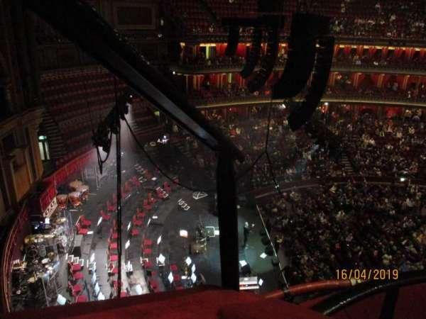 Royal Albert Hall, secção: Rausing Circle P, fila: 2, lugar: 1