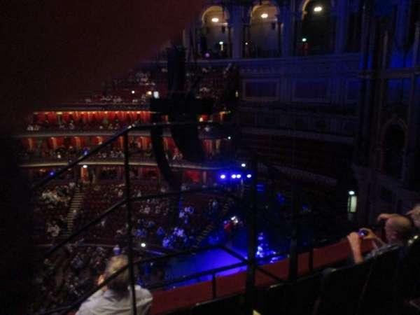 Royal Albert Hall, secção: Rausing Circle Y, fila: 3, lugar: 179