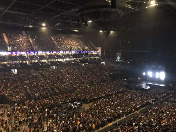 The O2 Arena, secção: 416, fila: A, lugar: 833