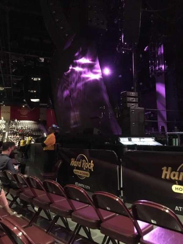 Hard Rock Live at Etess Arena, secção: 101, fila: C, lugar: 9