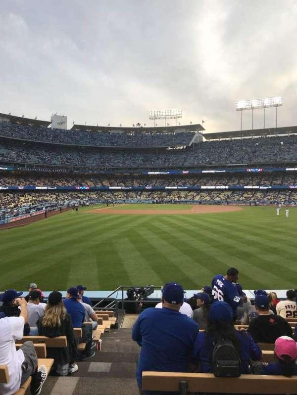Dodger Stadium, secção: 306PL, fila: M, lugar: 1