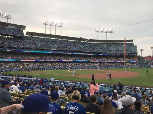 Dodger Stadium, secção: 32FD, fila: O, lugar: 6