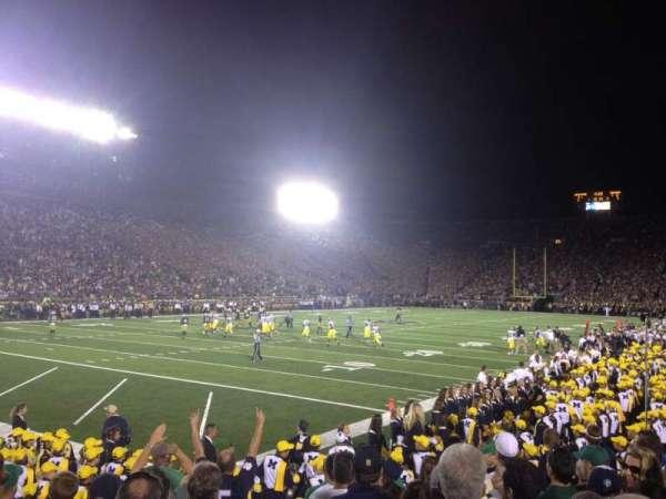 Notre Dame Stadium, secção: 15, fila: 13, lugar: 9*