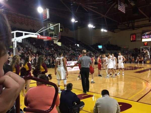 McGuirk Arena, secção: 108, fila: 2, lugar: 2