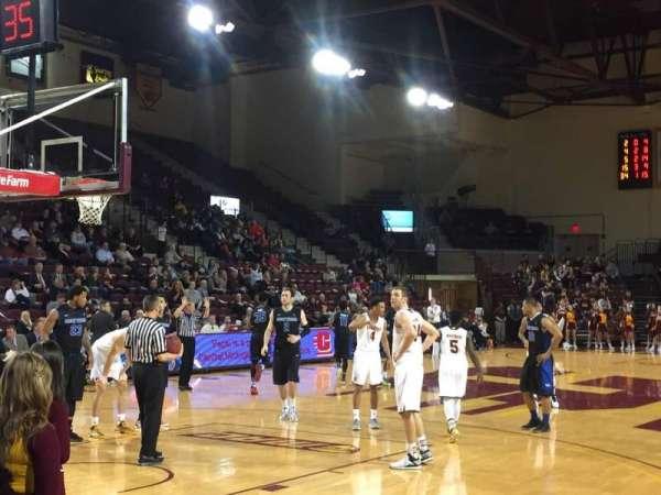 McGuirk Arena, secção: 108, fila: 3, lugar: 1
