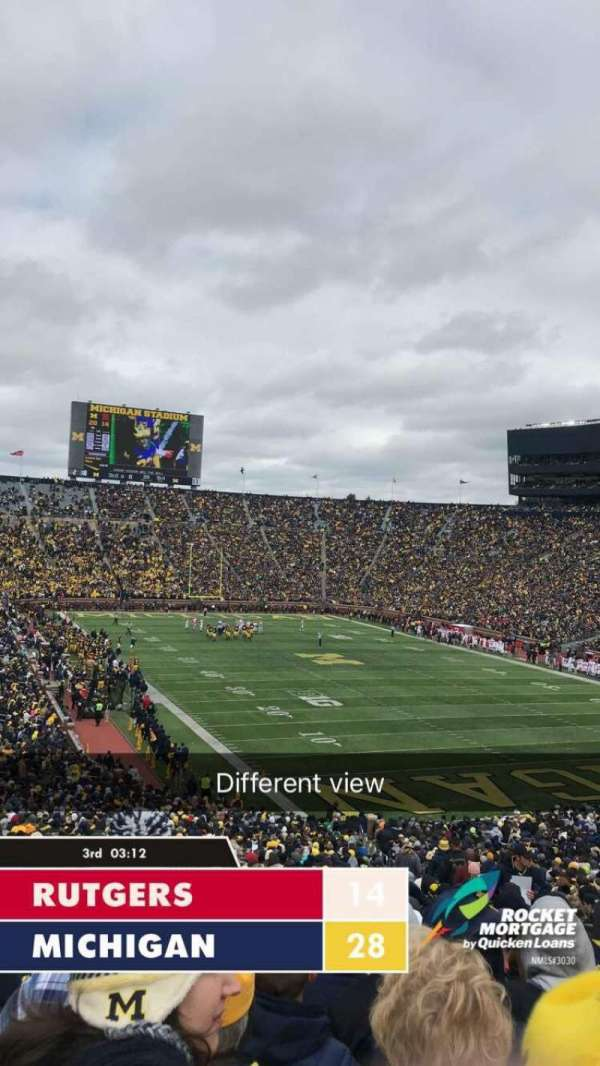 Michigan Stadium, secção: 15, fila: 59, lugar: 15