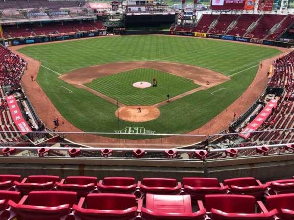 Great American Ball Park, secção: 424, fila: D, lugar: 12