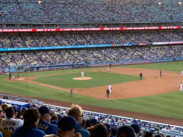 Dodger Stadium, secção: 154LG, fila: S, lugar: 8