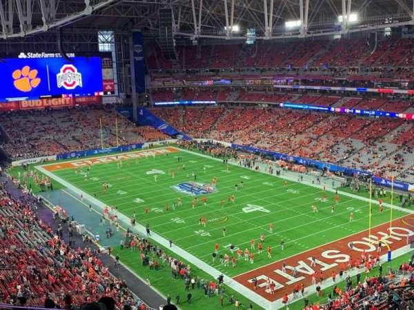 State Farm Stadium, secção: 434, fila: 9, lugar: 8