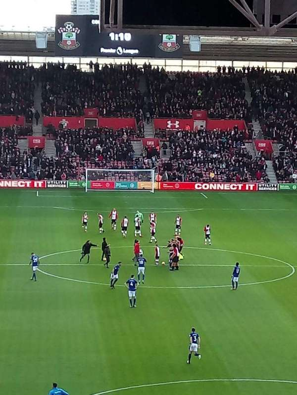 St Mary's Stadium, secção: 43, fila: NN, lugar: 1131