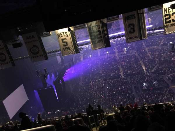 Barclays Center, secção: 223, fila: 22, lugar: 26