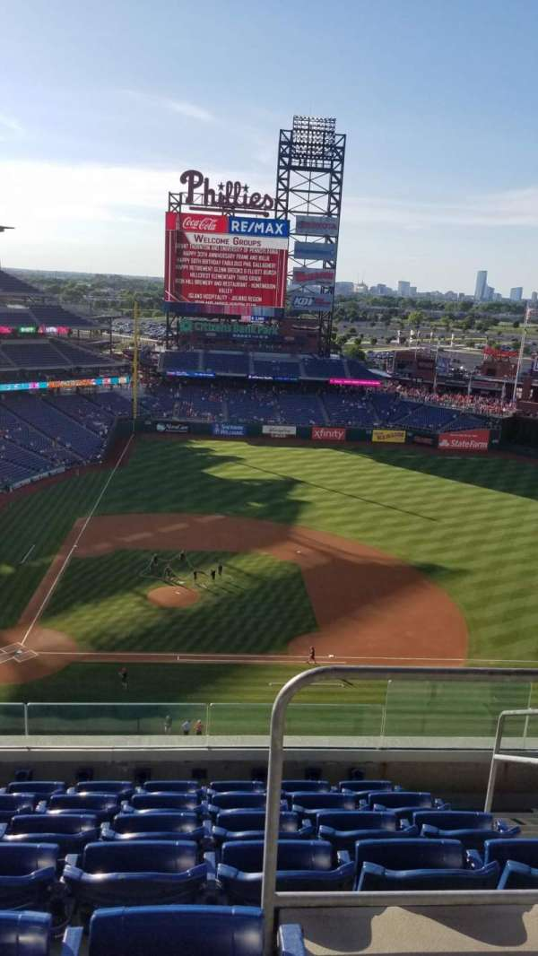 Citizens Bank Park, secção: 416, fila: 7, lugar: 4
