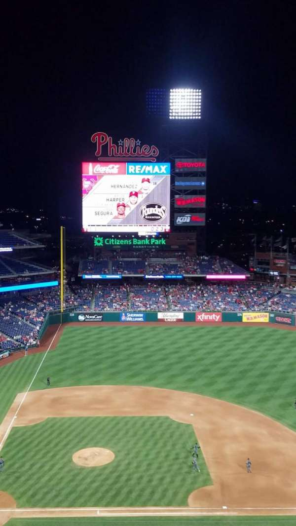 Citizens Bank Park, secção: 416, fila: 7, lugar: 5
