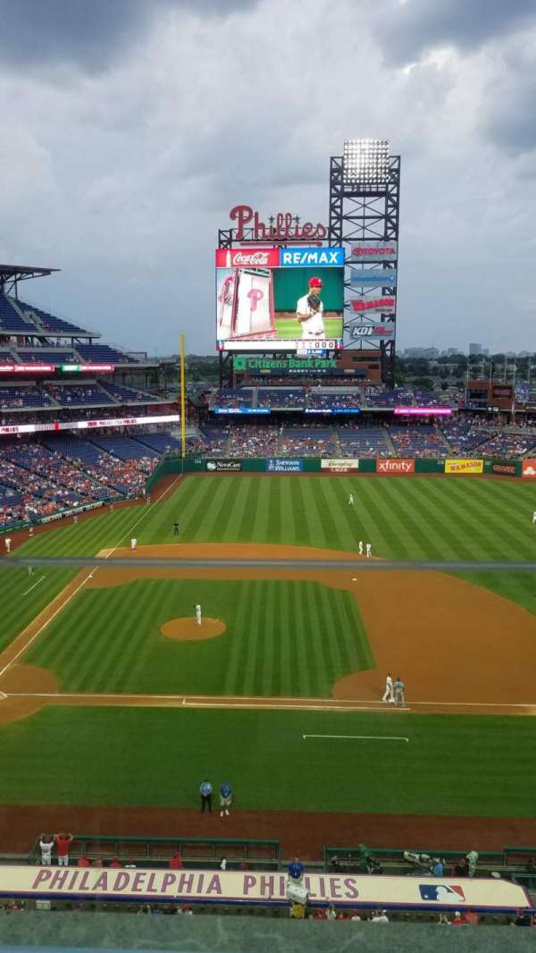 Citizens Bank Park, secção: 315, fila: 1, lugar: 21