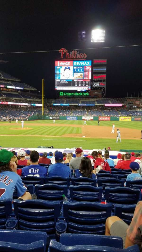 Citizens Bank Park, secção: 116, fila: 18, lugar: 8