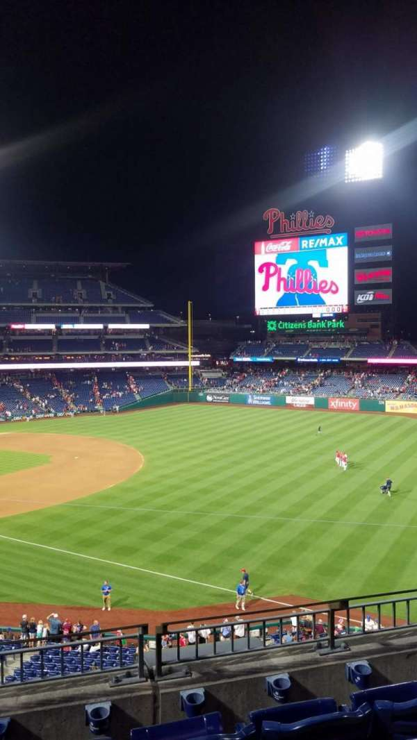 Citizens Bank Park, secção: 209, fila: 4, lugar: 8