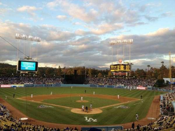 Dodger Stadium, secção: Loge, fila: G, lugar: 1