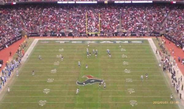 NRG Stadium, secção: 721, fila: R, lugar: 14