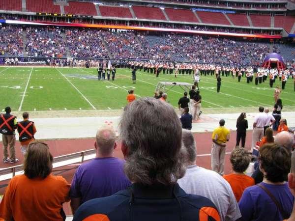 NRG Stadium, secção: 107, fila: E, lugar: 9