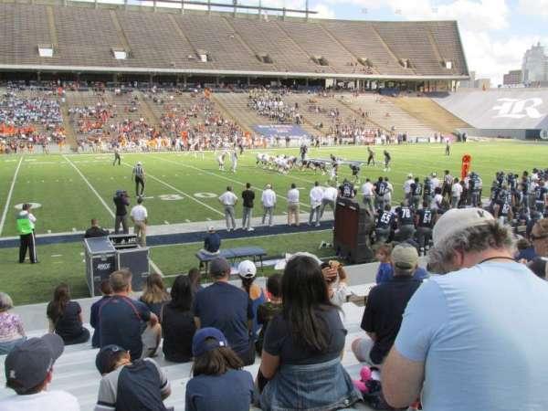 Rice Stadium, secção: 106, fila: 17, lugar: 10