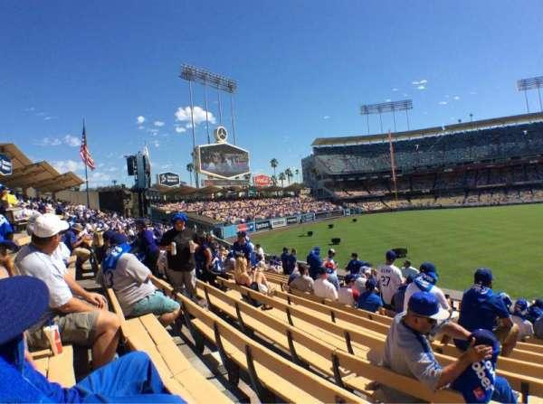 Dodger Stadium, secção: 303PL, fila: L, lugar: 4