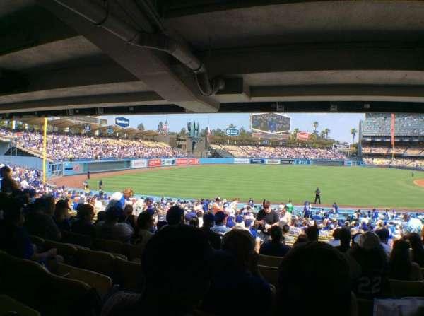 Dodger Stadium, secção: 41FD, fila: X, lugar: 8