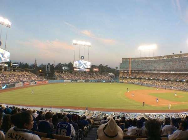 Dodger Stadium, secção: 146LG, fila: O, lugar: 8