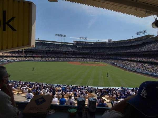 Dodger Stadium, secção: 305PL, fila: W, lugar: 1