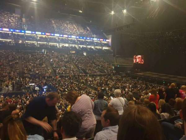 The O2 Arena, secção: 110, fila: W, lugar: 317