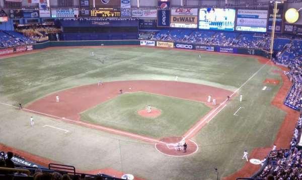 Tropicana Field, secção: 303, fila: H, lugar: 3