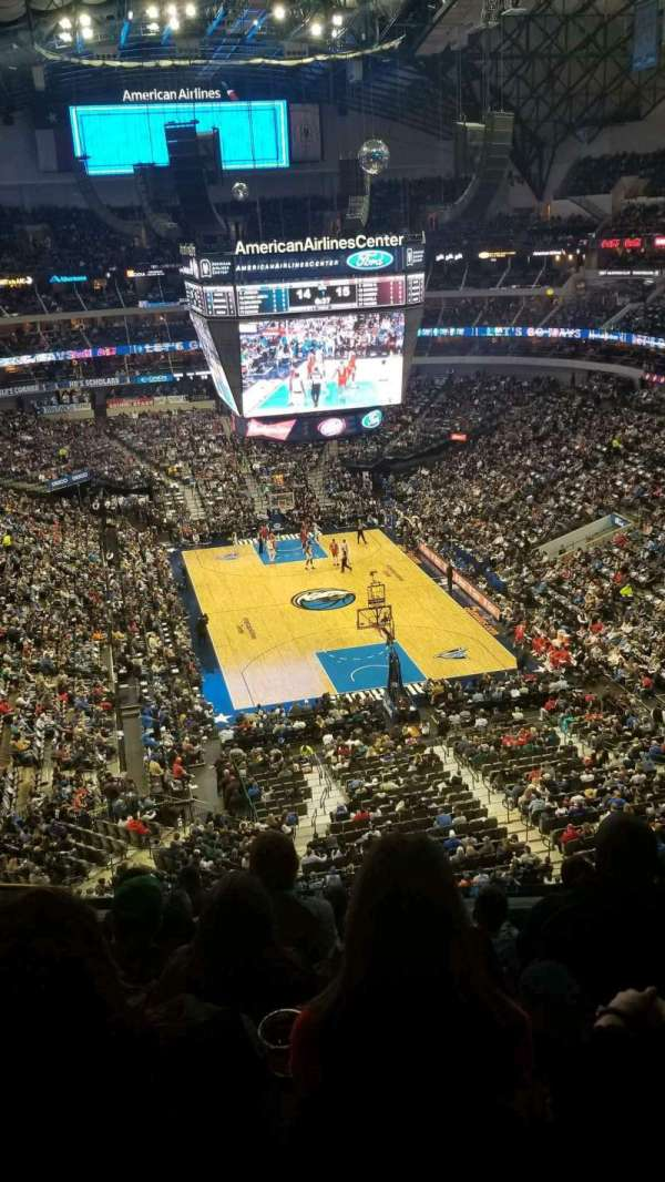American Airlines Center, secção: 302, fila: D, lugar: 12