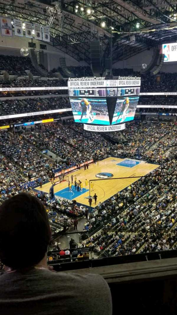 American Airlines Center, secção: 315, fila: B, lugar: 1