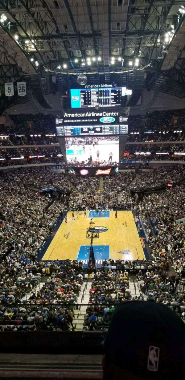 American Airlines Center, secção: 301, fila: BB, lugar: 4