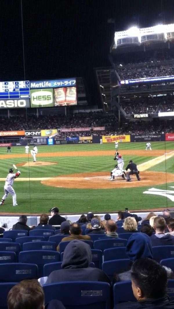 Yankee Stadium, secção: 121B, fila: 16, lugar: 1