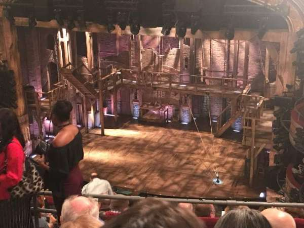 Richard Rodgers Theatre, secção: Rear Mezzanine R, fila: K, lugar: 18
