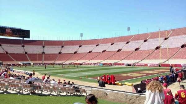 Los Angeles Memorial Coliseum, secção: 101, fila: 15, lugar: 14