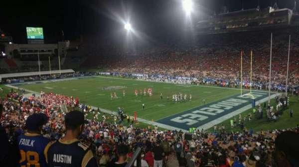Los Angeles Memorial Coliseum, secção: 217, fila: 2, lugar: 32