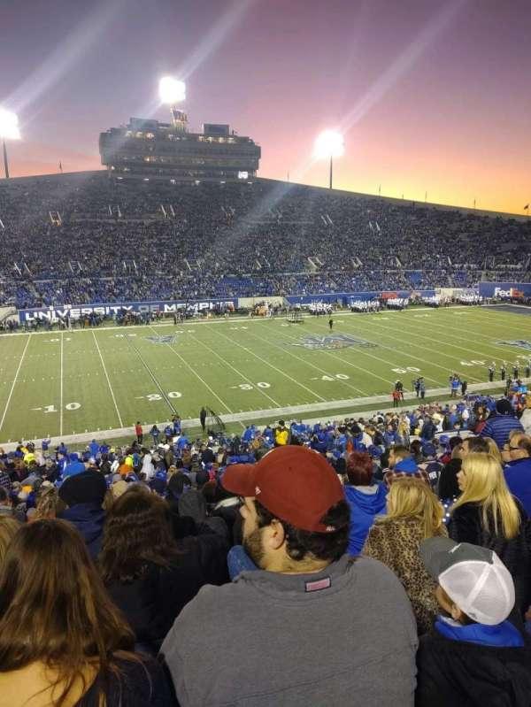 Liberty Bowl Memorial Stadium, secção: 122, fila: 49, lugar: 20